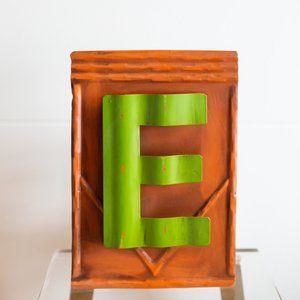 Vintage Looking Metal Letter E